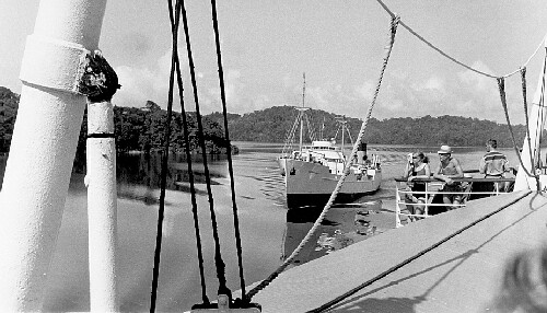 AURELIA in the PANAMA CANAL Voy38 1964 - photograph thanks to John van Soest